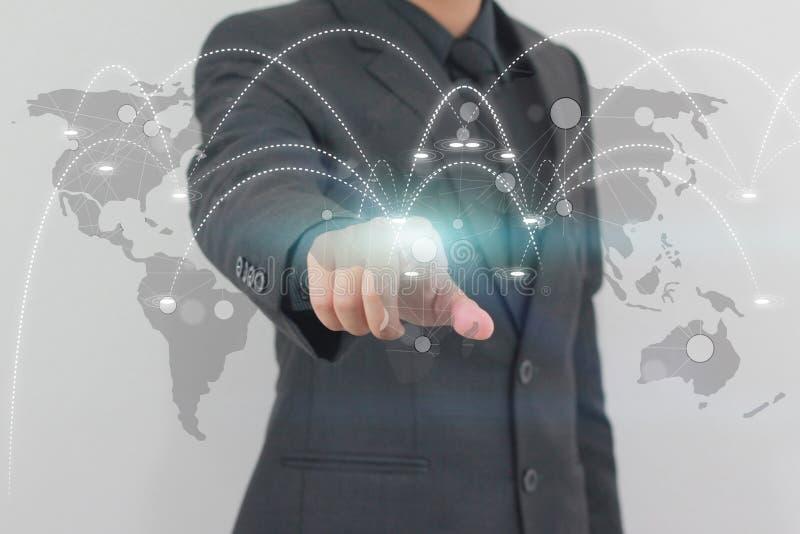 Концепция сети дела глобализации социальная бесплатная иллюстрация