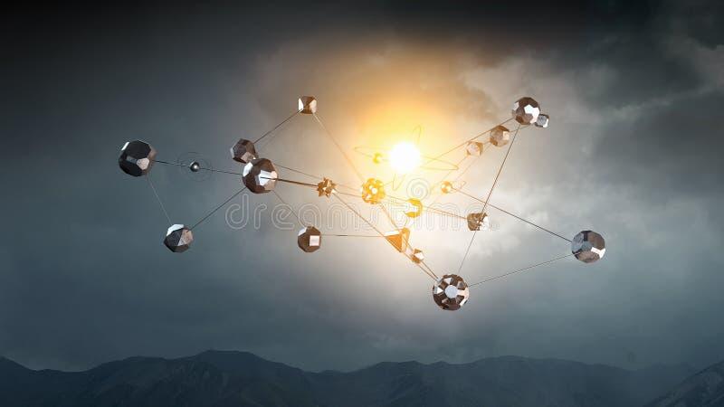 Концепция сети и связи стоковые фото