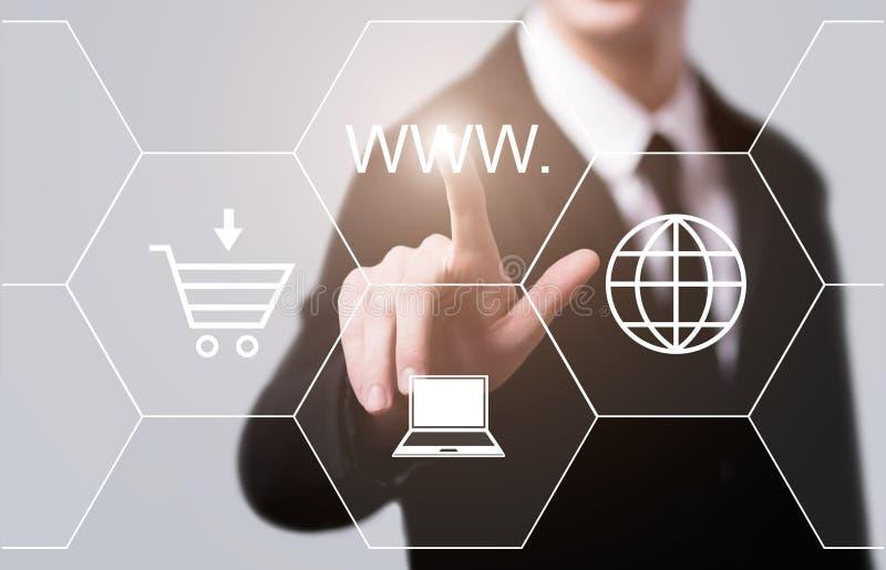 Концепция сети технологии сети интернет-связи WWW стоковые фото