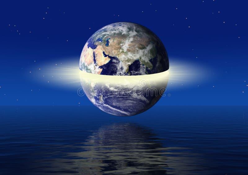 Концепция силы земли иллюстрация штока