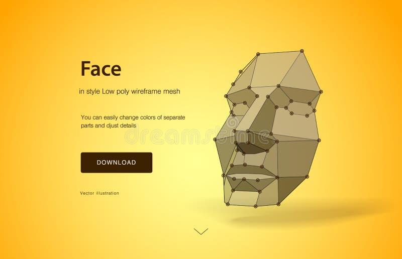 Концепция сканирования стороны Концепция обнаружения стороны путем просматривать выдвижение технологии, человеческую голову челов иллюстрация штока