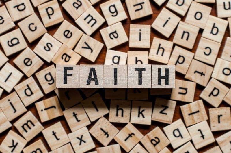 Концепция слова веры стоковые фотографии rf