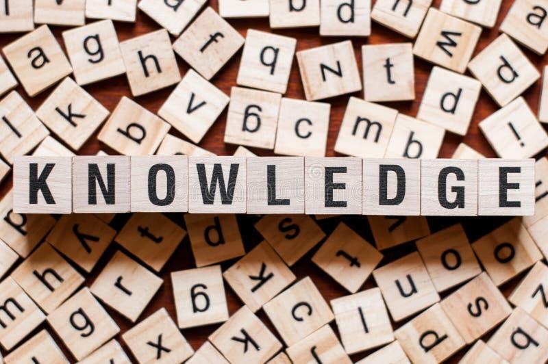 Концепция слова знания стоковая фотография rf