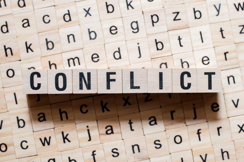 Концепция слова конфликта стоковое изображение rf