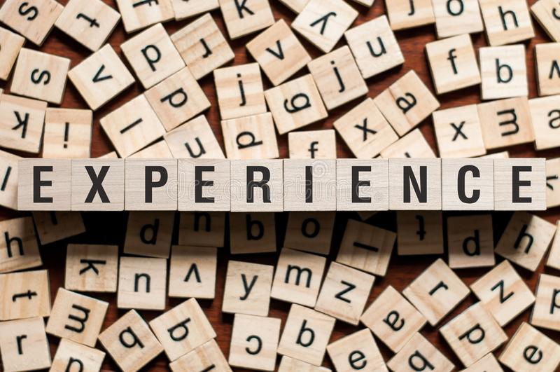 Концепция слова опыта стоковое изображение