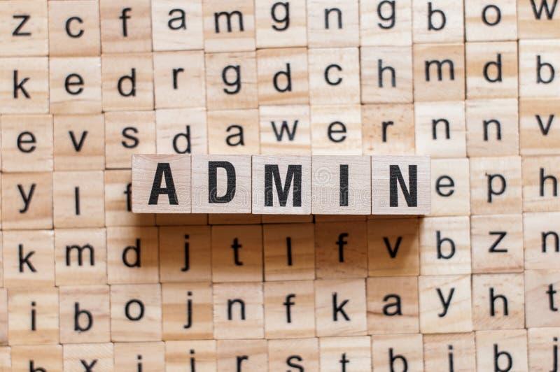 Концепция слова Admin стоковые изображения