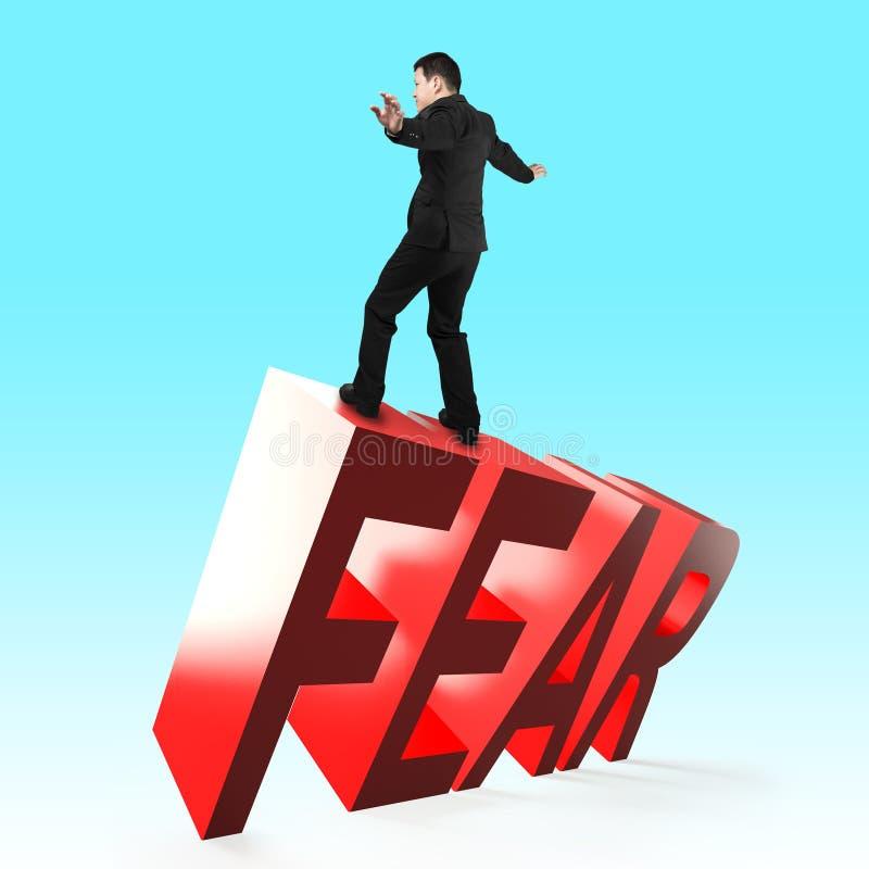 Концепция смелости, преодолевающ страх и невзгоду стоковая фотография rf