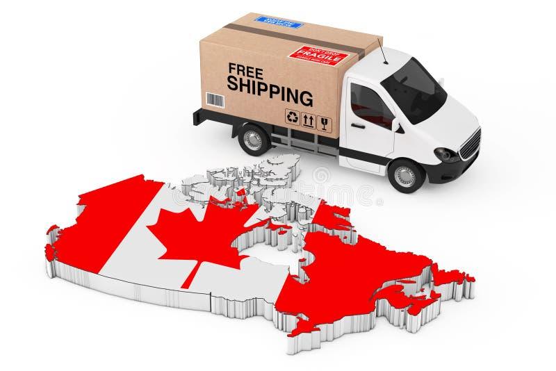 Концепция снабжения Канады Белый коммерчески промышленный гастроном груза иллюстрация штока