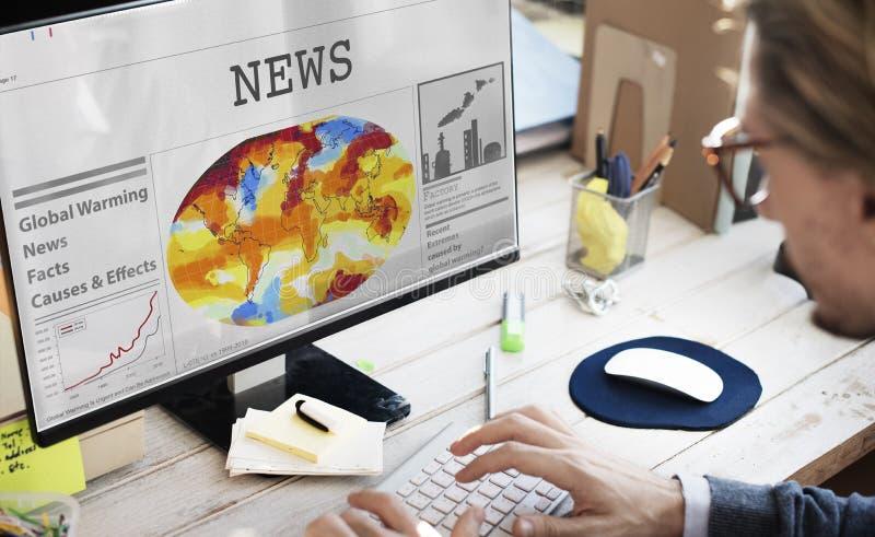 Концепция событий объявления передачи ленты новостей стоковое изображение rf