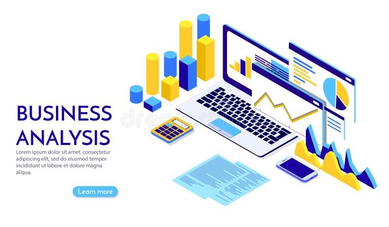 Концепция современного плоского дизайна равновеликая стратегии бизнеса для знамени и вебсайта r r бесплатная иллюстрация