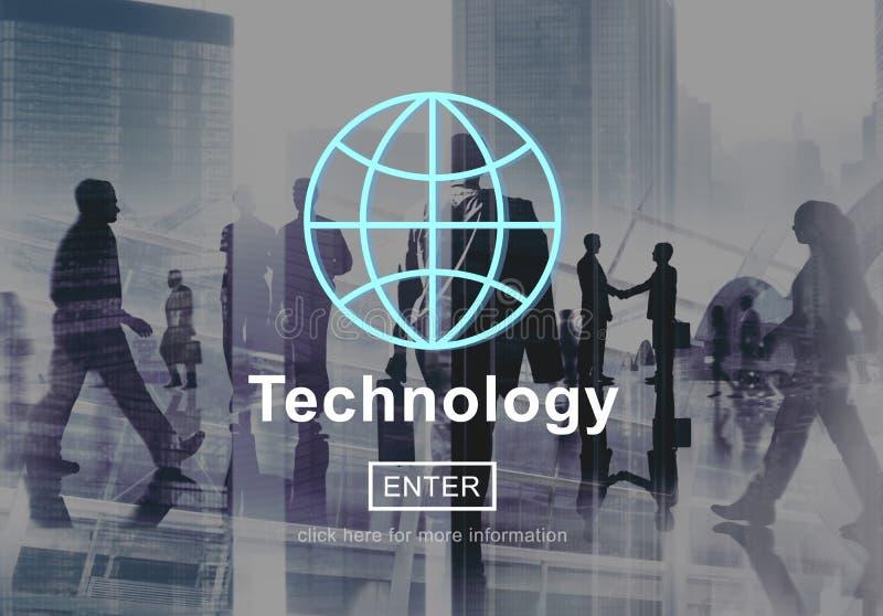 Концепция соединения домашней страницы глобальной связи технологии стоковые фото