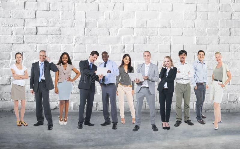 Концепция соединения связи команды корпоративного бизнеса стоковые фотографии rf