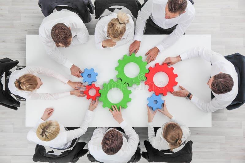 Концепция сотрудничества команды дела стоковое фото rf