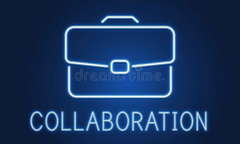 Концепция сотрудничества роста портфеля дела конфиденциальная стоковое изображение