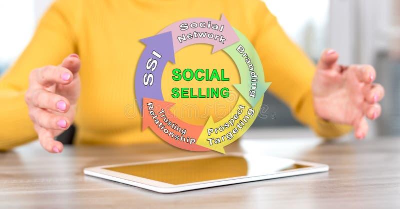 Концепция социальный продавать стоковые фотографии rf