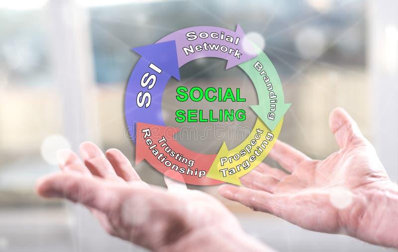 Концепция социальный продавать стоковые фото
