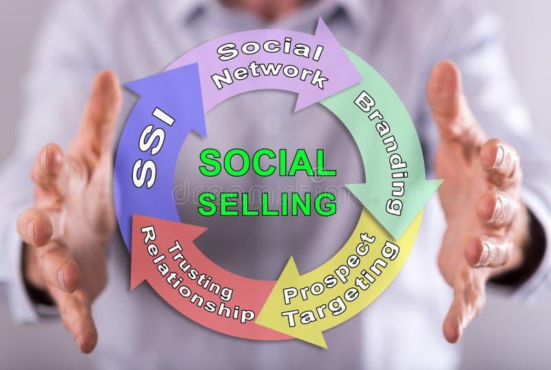 Концепция социальный продавать стоковые изображения