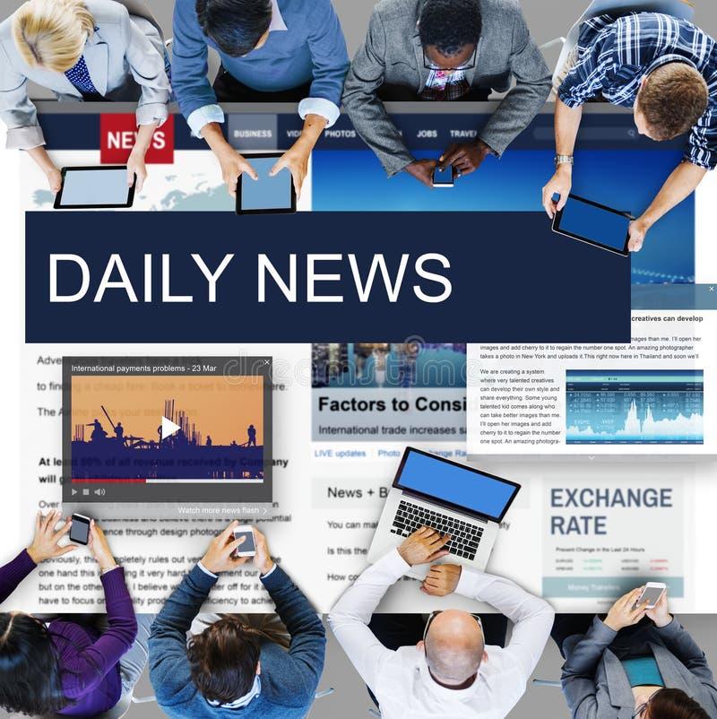 Концепция содержания новостей публицистики средств массовой информации глобальная ежедневная стоковое фото
