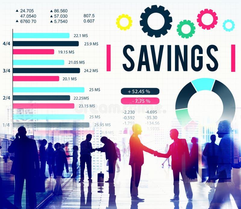 Концепция спасения денег BudgetEconomy финансов сбережений стоковые фотографии rf