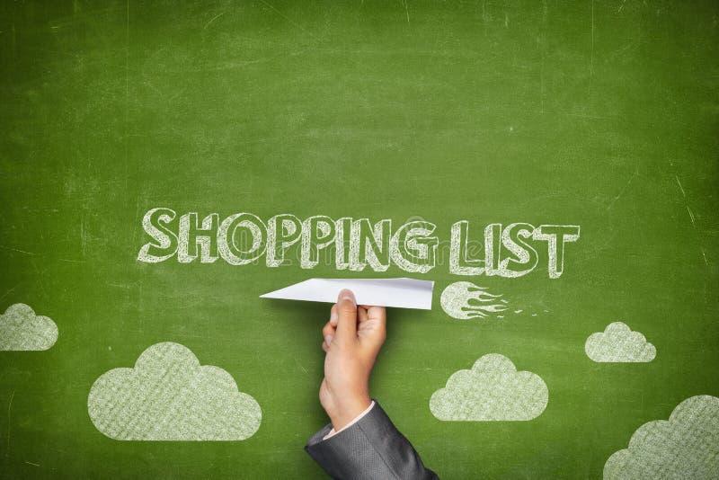 Концепция списка покупок стоковые изображения rf