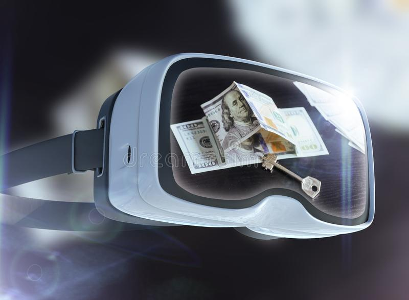 Концепция стекел, дела, технологии, интернета и сети виртуальной реальности стоковые фотографии rf
