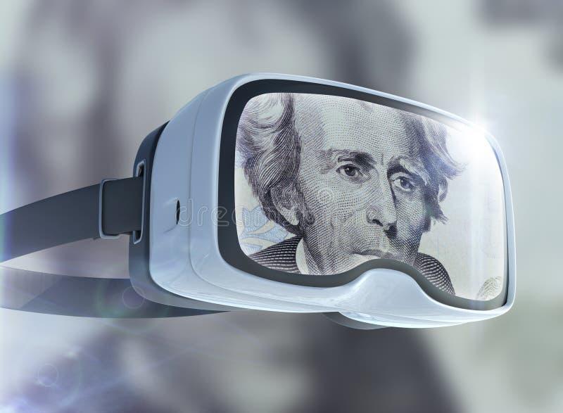 Концепция стекел, дела, технологии, интернета и сети виртуальной реальности стоковая фотография rf