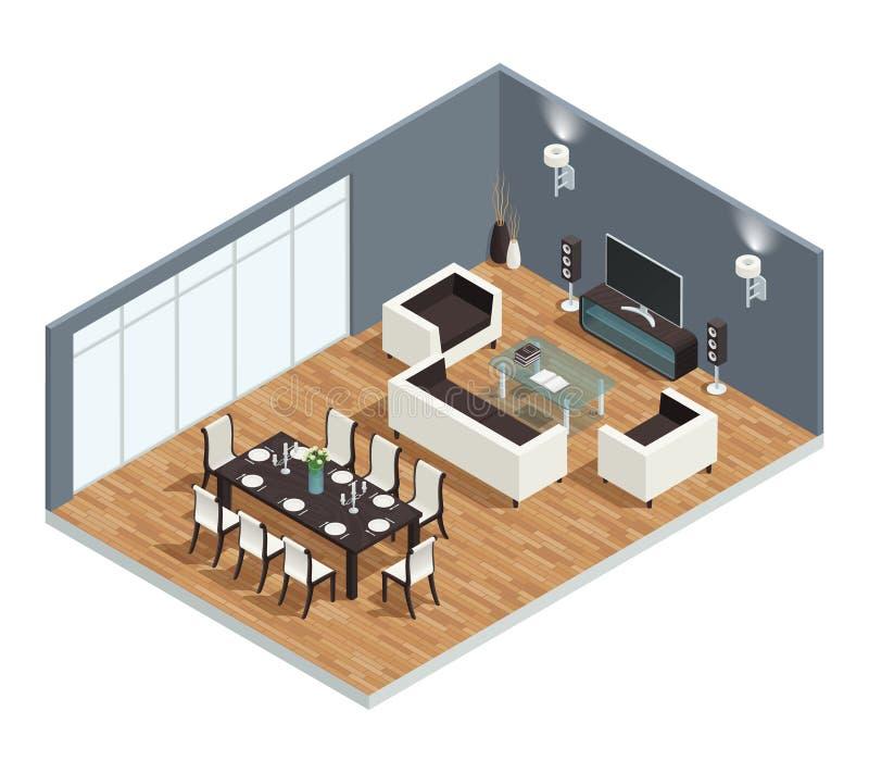 Концепция столовой иллюстрация штока