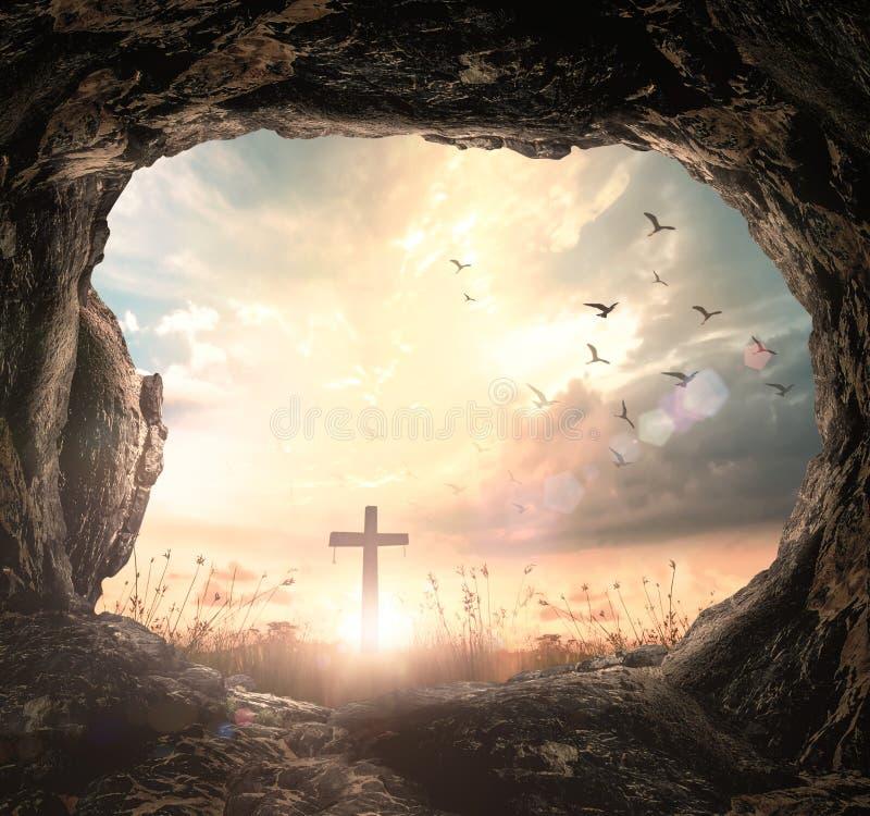 Концепция страстной пятницы и пасхи воскресенья стоковое изображение