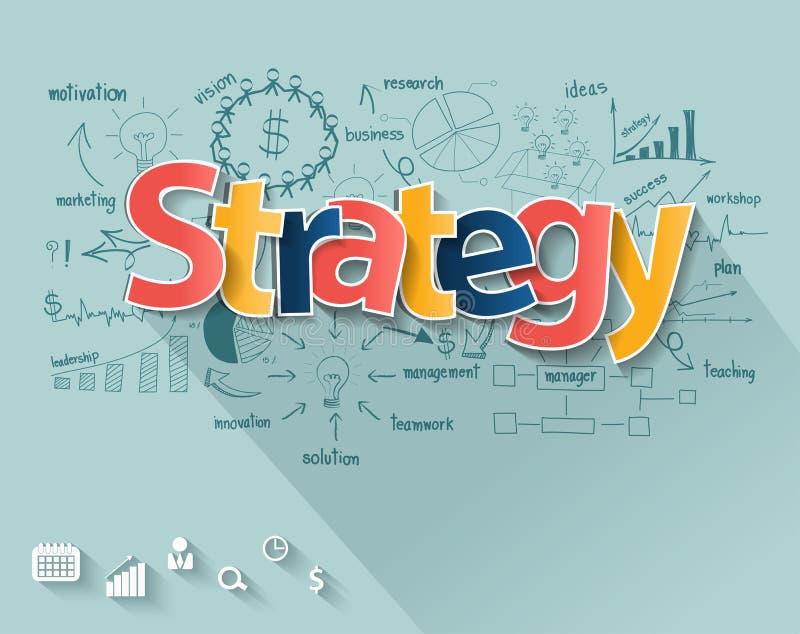 Концепция стратегии бизнеса вектора иллюстрация вектора