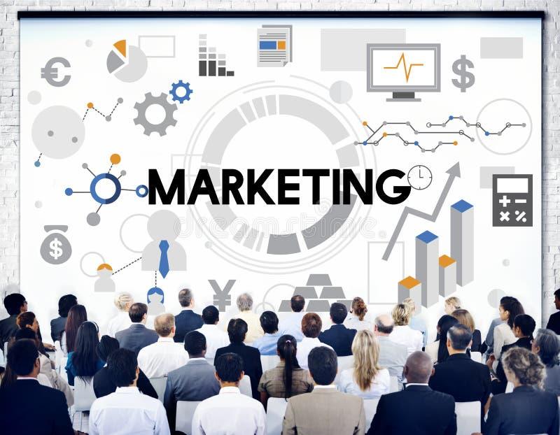 Концепция стратегии дела маркетинга коммерчески стоковое изображение rf