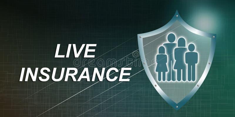 Концепция страхования жизни иллюстрация штока