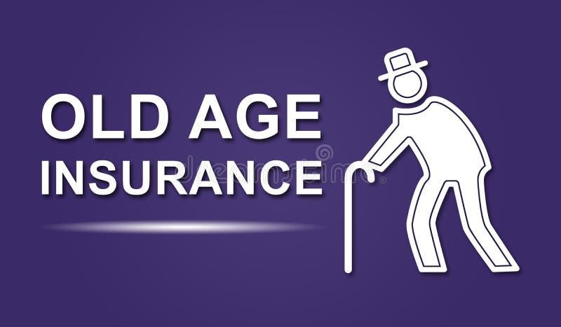 Концепция страхования старости иллюстрация штока