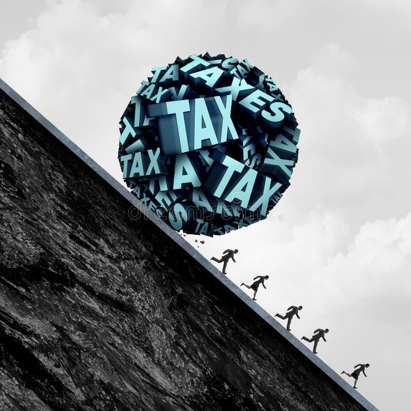 Концепция стресса налога бесплатная иллюстрация