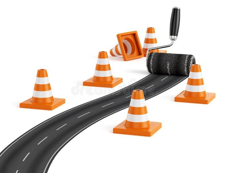 Концепция строительства дорог иллюстрация вектора
