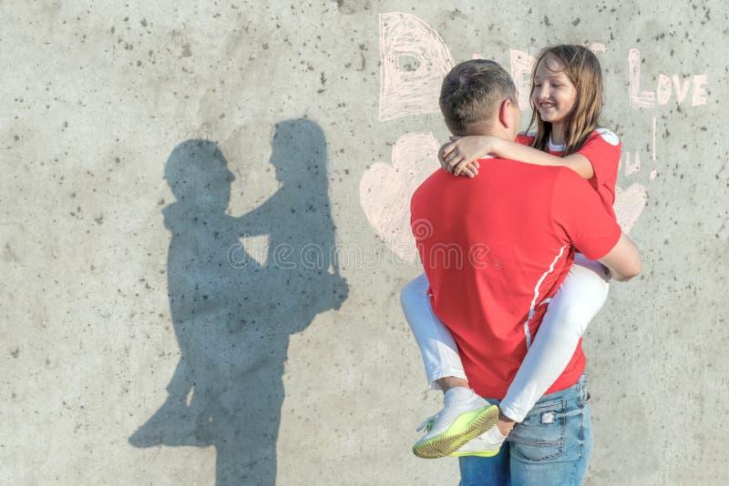 Концепция счастливого дня отца стоковые изображения