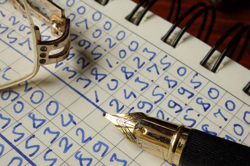 Концепция счетоводства стоковое изображение rf
