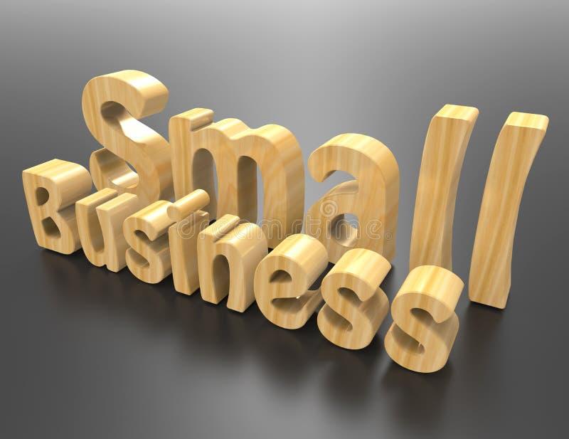 Концепция слова мелкого бизнеса иллюстрация вектора