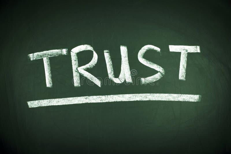 Концепция слова доверия стоковое изображение rf