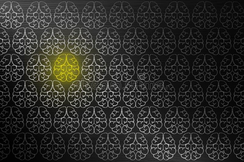 Концепция творческих способностей метода мозгового штурма для хороших идей на классн классном внутри стоковое изображение rf