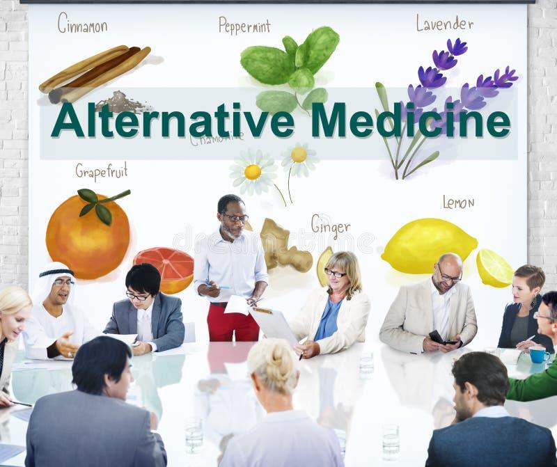 Концепция терапией травы здоровья нетрадиционной медицины стоковое изображение