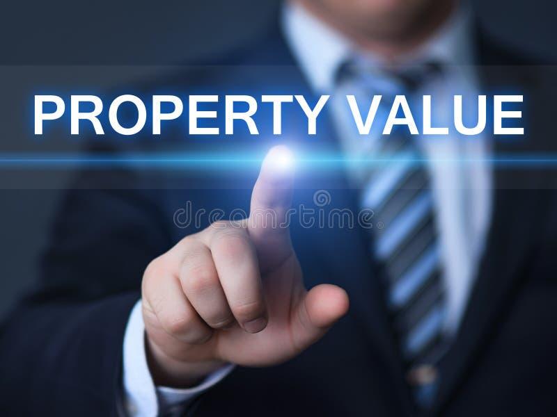 Концепция технологии дела интернета рынка недвижимости стоимости имущества стоковые изображения