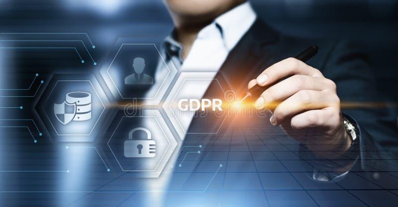 Концепция технологии интернета дела общей защиты данных GDPR регулированная стоковая фотография rf