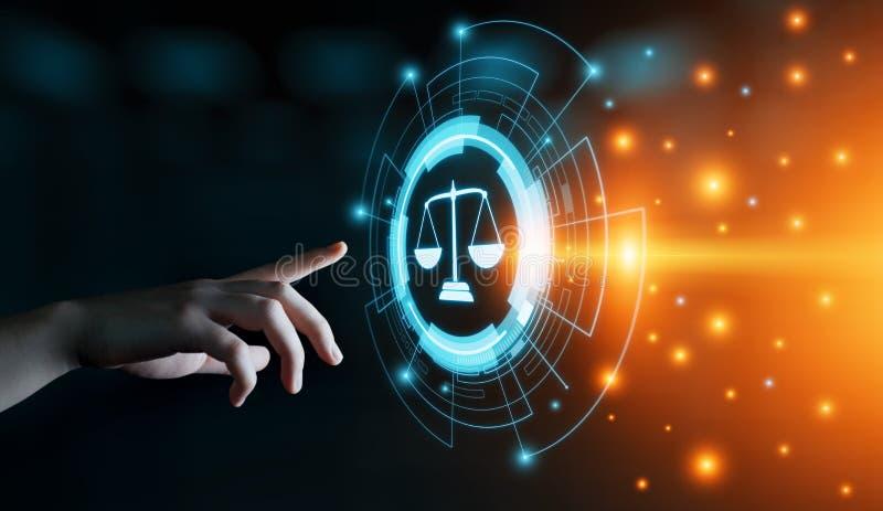 Концепция технологии интернета дела юриста закона о труде законная стоковые изображения
