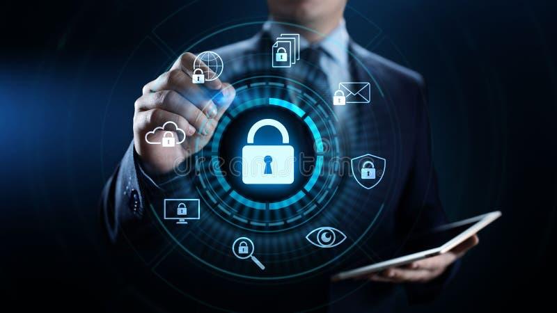 Концепция технологии интернета уединения данным по защиты данных безопасностью кибер бесплатная иллюстрация