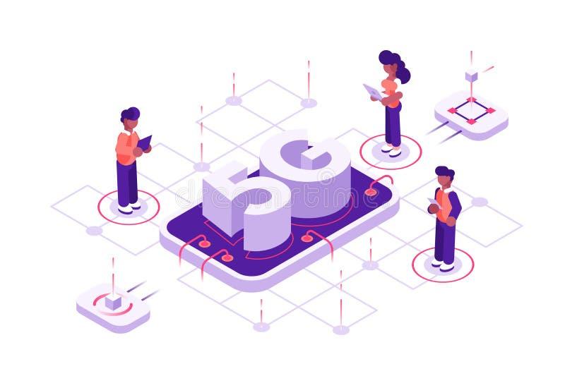 концепция технологии 5g иллюстрация штока