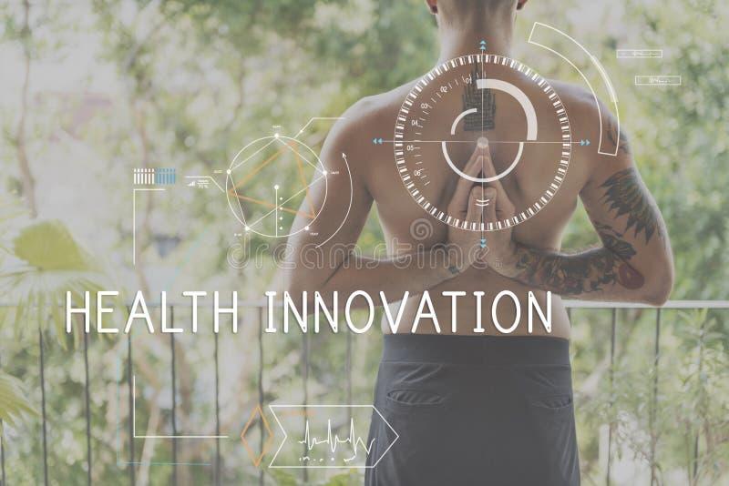 Концепция технологии здравоохранения фитнеса здоровья отслеживая стоковая фотография