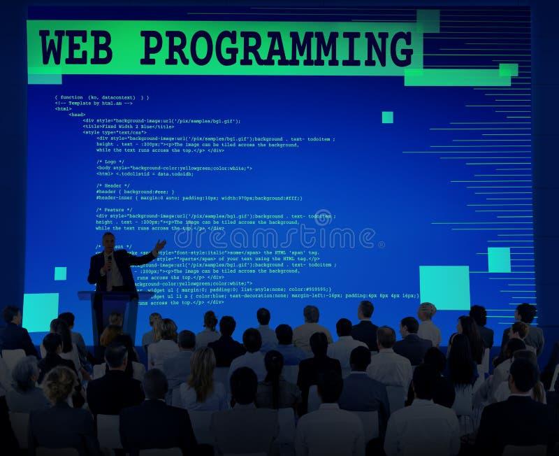 Концепция технологии разработчика программного обеспечения сети программируя стоковая фотография rf