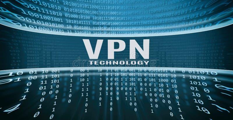Концепция технологии VPN иллюстрация вектора
