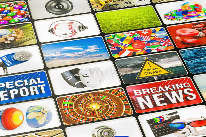 Концепция технологий средств массовой информации, 3D бесплатная иллюстрация