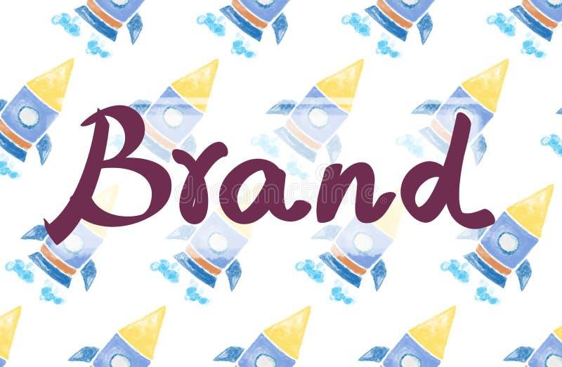 Концепция товарного знака авторского права клеймя маркетинга бренда иллюстрация вектора